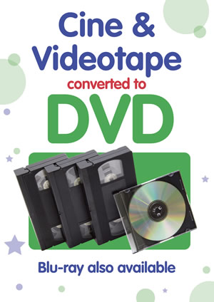 Cine film or video to DVD or USB